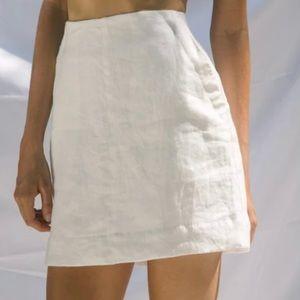 Gillia Clothing Saskia linen mini skirt, M NWT